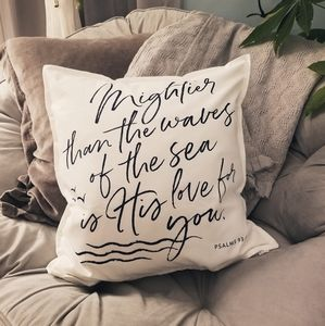 Handmade printed pillow